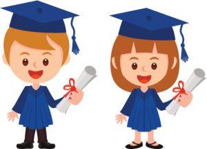 graduation boy and girl